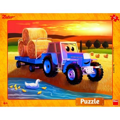 Dino-32221 Puzzle Cadre - Moissonneuse