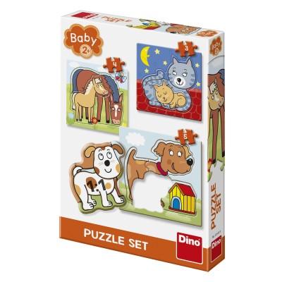Dino-32512 3 Puzzles - Animaux