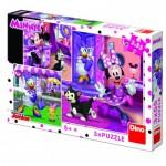Dino-33522 3 Puzzles - Minnie