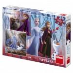 Dino-33533 3 Puzzles - La Reine des Neiges 2
