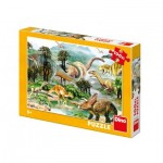 Puzzle  Dino-34343 Pièces XXL - Dinosaures