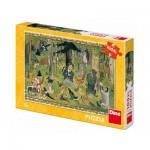 Puzzle  Dino-34348 Pièces XXL - Josef Lada - Fairy Tales