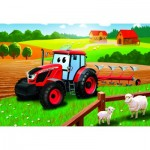 Puzzle  Dino-35162 Tracteur