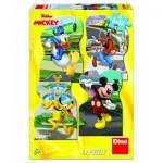 4 Puzzles - Mickey en Ville