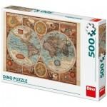 Puzzle  Dino-50230 Carte du Monde, 1626