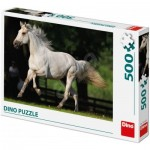 Puzzle  Dino-50233 Cheval Blanc
