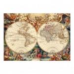 Puzzle  Dino-53185 Vieille Carte du Monde