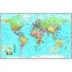 Puzzle  Dino-53248 Carte du Monde (en anglais)