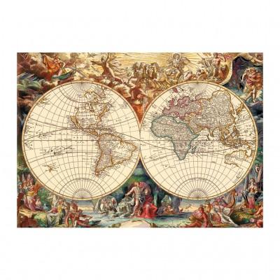 Puzzle Dino-53249 Vieille Carte du Monde