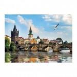 Puzzle  Dino-53273 Pont Charles, Prague