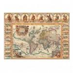 Puzzle  Dino-56115 Vieille Carte du Monde