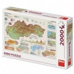 Puzzle  Dino-56120 Carte de la Slovaquie