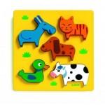 Djeco-01022 Puzzle en Bois - Vachemenbien