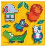 Djeco-01041 Puzzle en Bois - Junga