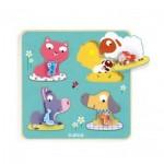 Djeco-01053 Puzzle en Bois - Mamifarm