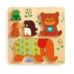 Djeco-01056 Puzzle en Bois - Woodypile