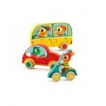Djeco-01250 Puzzle en Bois - Jako & Co