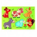 Djeco-01259 Puzzle en Bois - Coucou-cow