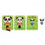 Djeco-01471 Puzzle en Bois - Panda