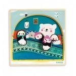 Djeco-01485 Puzzle en Bois - Igloo