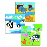 Djeco-01552 Puzzle 18 pièces en bois - Premiers puzzles : Animaux & Co