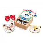 Djeco-01679 Puzzle en Bois - Face-mix