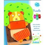 Djeco-01681 Puzzle apprentissage 15 pièces en bois : Arbre doudou
