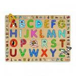 Puzzle  Djeco-01800 Encastrement 26 pièces en bois : ABC