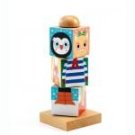 Djeco-01910 Puzzle 3D en Bois - Twistanimo