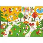 Puzzle  Djeco-07013 Pièces XXL - Flocky