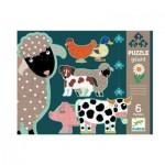 Puzzle  Djeco-07112 Pièces XXL - Honoré & ses Amis