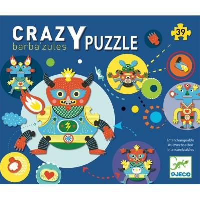Djeco-07119 Puzzle Géant - Crazy Puzzle - Barbazul