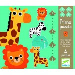 Djeco-07135  4 puzzles : Dans la jungle