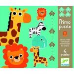 Djeco-07135  4 puzzles : Dans la jungle