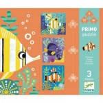 Djeco-07138 3 Puzzles - Poissons