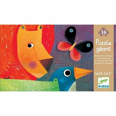 Djeco-07171 Puzzle Géant - La Parade des Animaux