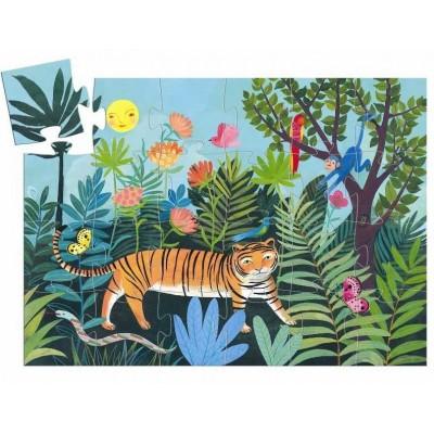 Djeco-07201 Puzzle Silhouette - Tigre