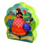 Djeco-07203 Puzzle Silhouette - La Belle au Bois Dormant