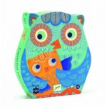 Djeco-07215 Puzzle Silhouette - Coucou Hibou
