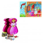 Puzzle  Djeco-07221 Silhouette : La princesse et la grenouille