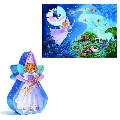 Puzzle Djeco-07225 Silhouette : La fée et la licorne