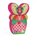 Djeco-07234 Puzzle Silhouette - La Demoiselle Papillon
