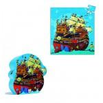 Puzzle  Djeco-07241 Silhouette : Bateau de Barberousse
