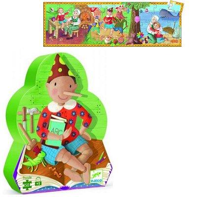 Puzzle Djeco-07251 Silhouette : Pinocchio