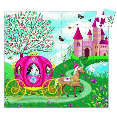 Djeco-07254 Puzzle Observation - Le Carosse d'Elise