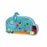 Djeco-07266 Puzzle Silhouette - L'Aquarium