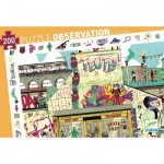 Djeco-07453 Puzzle Observation - Streetart