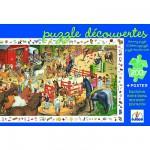 Puzzle  Djeco-07454 Poster et jeu d'observation : Equitation