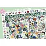 Djeco-07507 Puzzle Observation - 1000 Fleurs