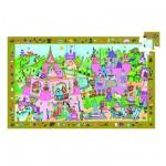 Puzzle  Djeco-07556 Poster et jeu d'observation : Princesse